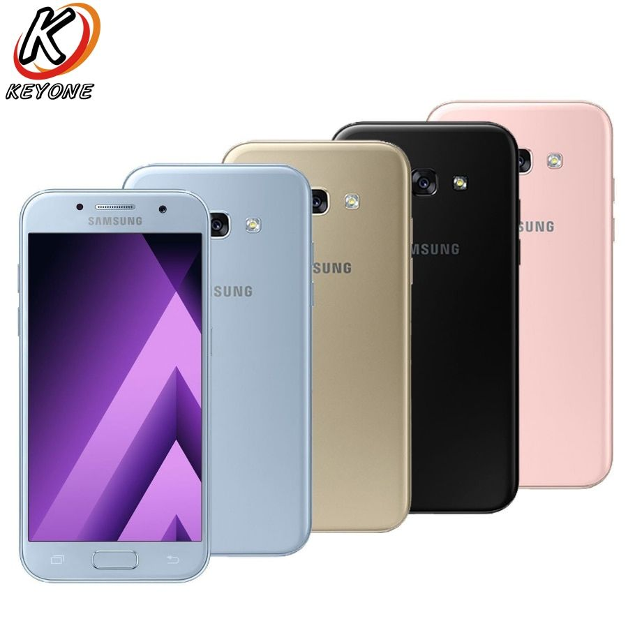 New Samsung Galaxy A5 2017 A520FD Mobile phone 5.2 3GB RAM 32GB ROM Octa Core 1920x1080p Dual SIM Android 6.0 16.0MP Cellphone