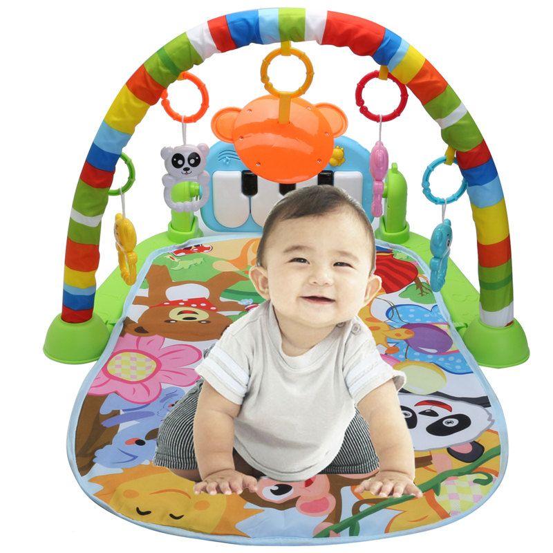 3 en 1 Pour L'éducation Rack Jouets Bébé Musique Tapis de Jeu Clavier Infantile Remise En Forme Tapis Cadeau Pour Enfants