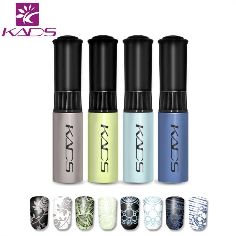 KADS New 4pcs/set Nail Art Polish Nail Manicure Decorations Stamping Nail Art Lacquer Beauty Nail Decorations Tools