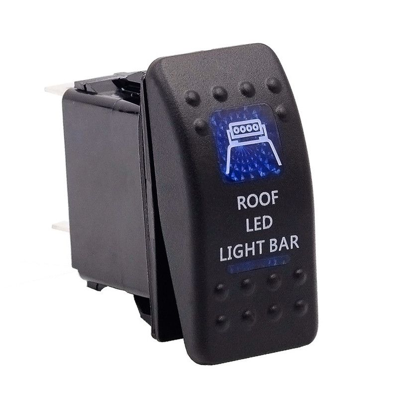 Car Auto Truck Boat Marine 12V 24V ON OFF Rocker Switch Blue LED Light   P30 July5