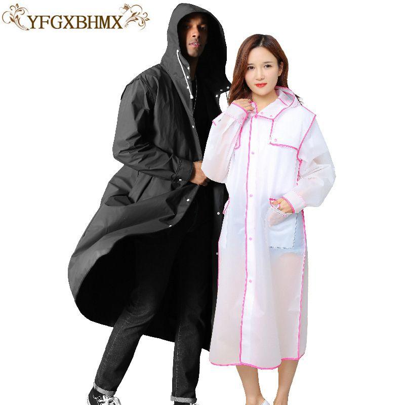 YFGXBHMX Travel Portable Women Raincoat Men Black Rain Clothes covers Impermeable Rainwear Poncho Waterproof Hooded Rain Coat