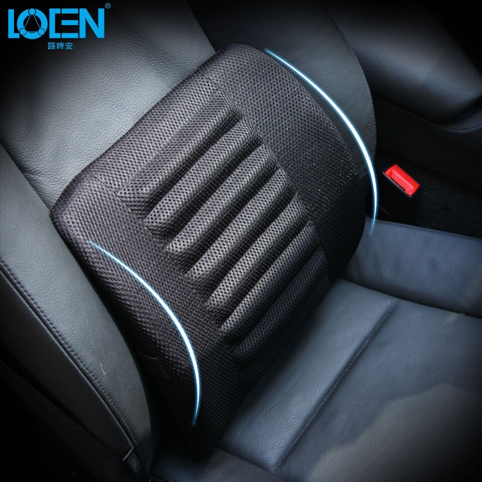 Universal Mesh Black Car Seat Back Cushion Lumbar Support <font><b>Waist</b></font> Cushions Cotton Seat Cover Office Home Auto Interior Accessories