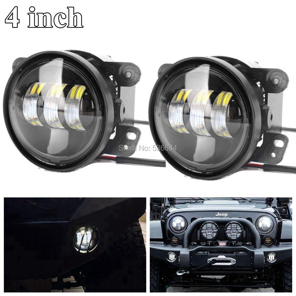 30 Вт 4 дюйма белый круглый светодиодный Противотуманные огни вспомогательный passing для Jeep Wrangler JK 2 двери/Dodge Journey, jeep Grand Cherokee
