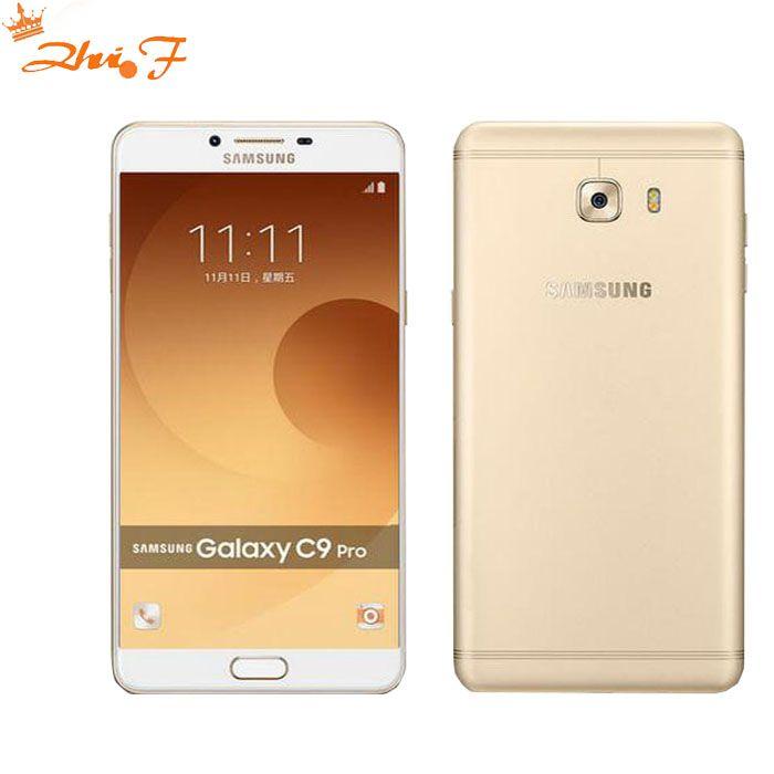 Nouvelle D'origine Samsung Galaxy C9 Pro C9000 6 GB RAM 64 GB ROM LTE Octa core 16MP Caméra 6''inch 4000 mAh Batterie Cellulaire téléphone