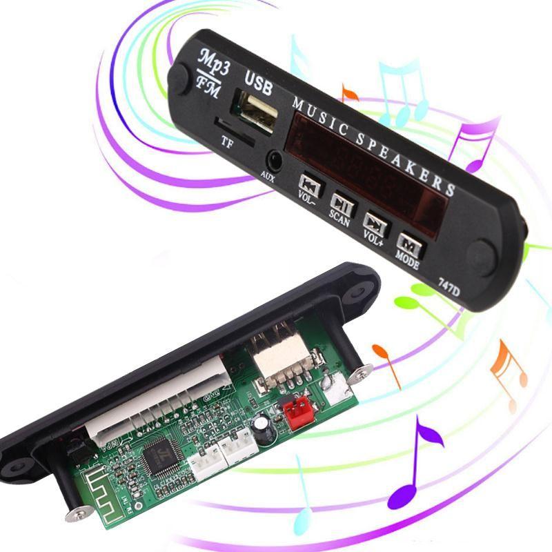 Cewaal neue Auto Fahrzeuge Auto MP3 Musik Decoder 4 Matrix-tastatur-tasten-modul FM Radio Usb-schnittstelle Schwarz fernbedienung