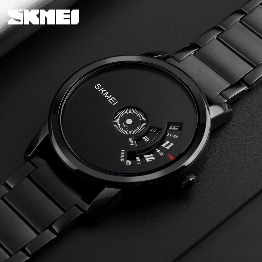 SKMEI Simple Style Fashion Men Quartz Watch Luxury Creative Steel Band Waterproof Casual Men's Watches <font><b>Relogio</b></font> Masculino
