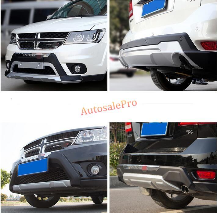ABS Kunststoff Vorne und Hinten Fahrschutz Schutz Schutz Für Dodge Journey 7 sitze 2012-2014