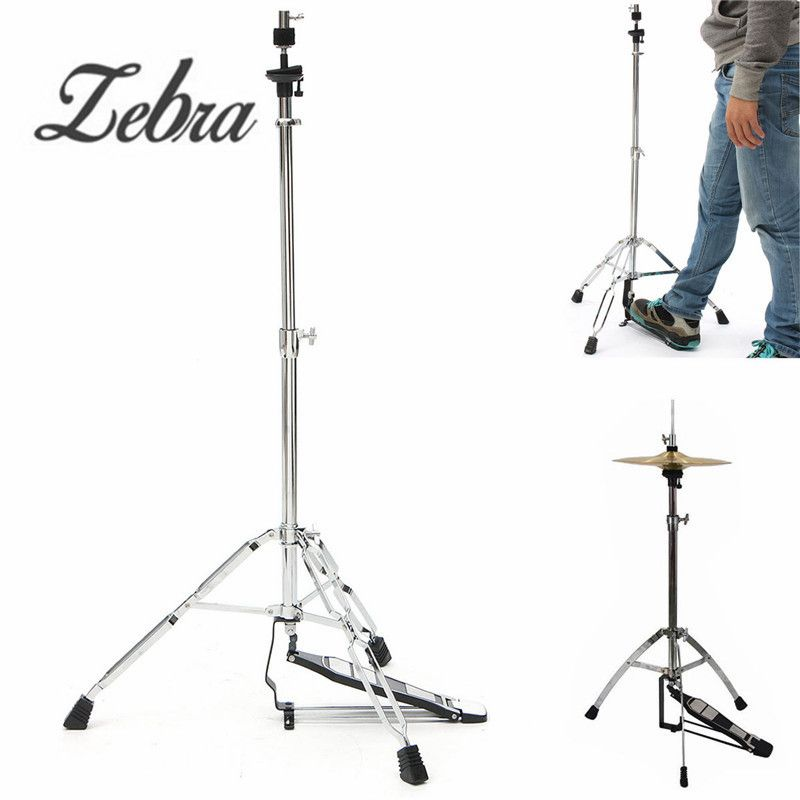 Zebra 24-39 inch Hi-Hat Stand-Griffin HiHat Cymbal Hardware Drum Pedal Holder Mount For Percussion Musical Instruments Parts