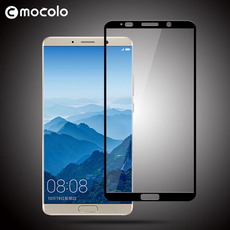 Mocolo 0.33mm 2.5D verre trempé protecteur d'écran pour Huawei Mate 10 couverture complète 9 H film de verre trempé pour Huawei Mate 10 Pro