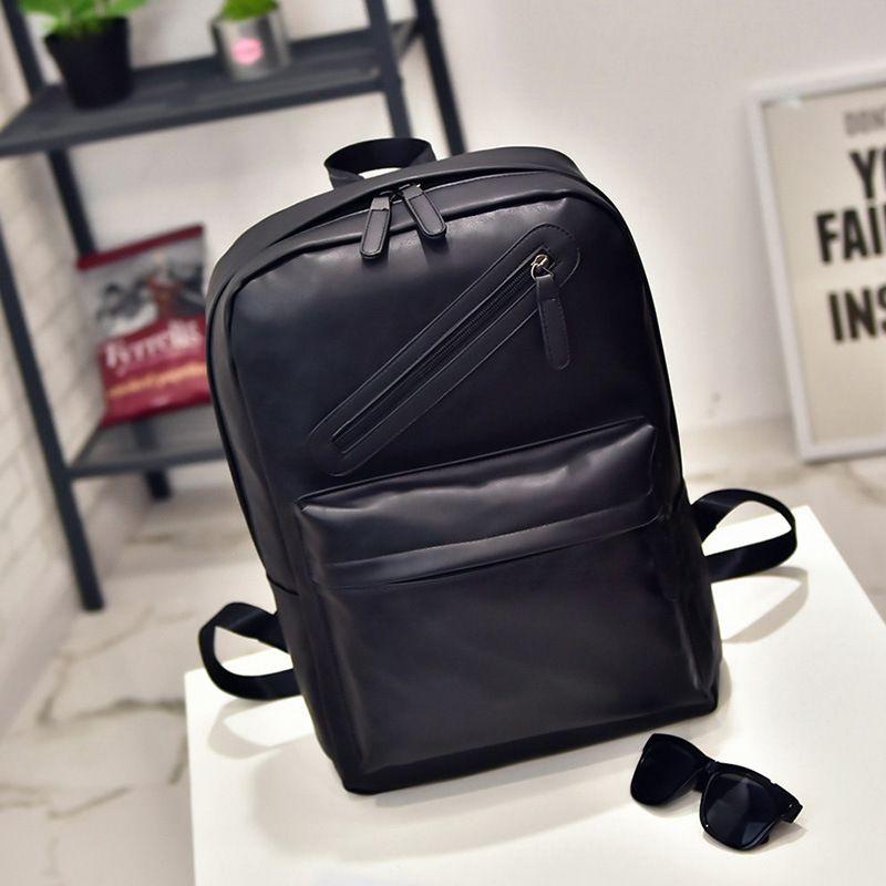 Mrs win European American style Solid high quality leather men backpack shoulder bag Schoolbag computer bags Mochila Feminina