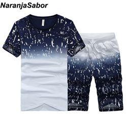 NaranjaSabor Summer New Men's Shorts Casual Suits Sportswear Mens Clothing Man Sets Pants Male sweatshirt Men Brand Clothing 4XL