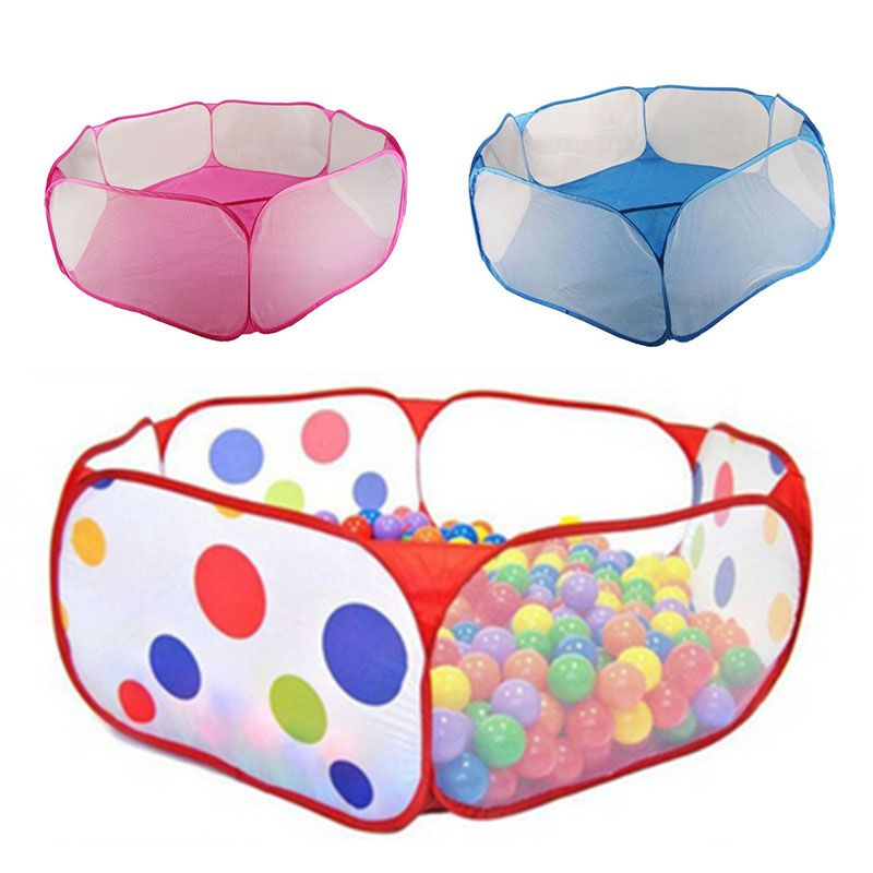 New Children Folding Ocean Balls Pit Holder Portable Outdoor Indoor Fun Play Toy Tent House Hut Ball Pool FJ88