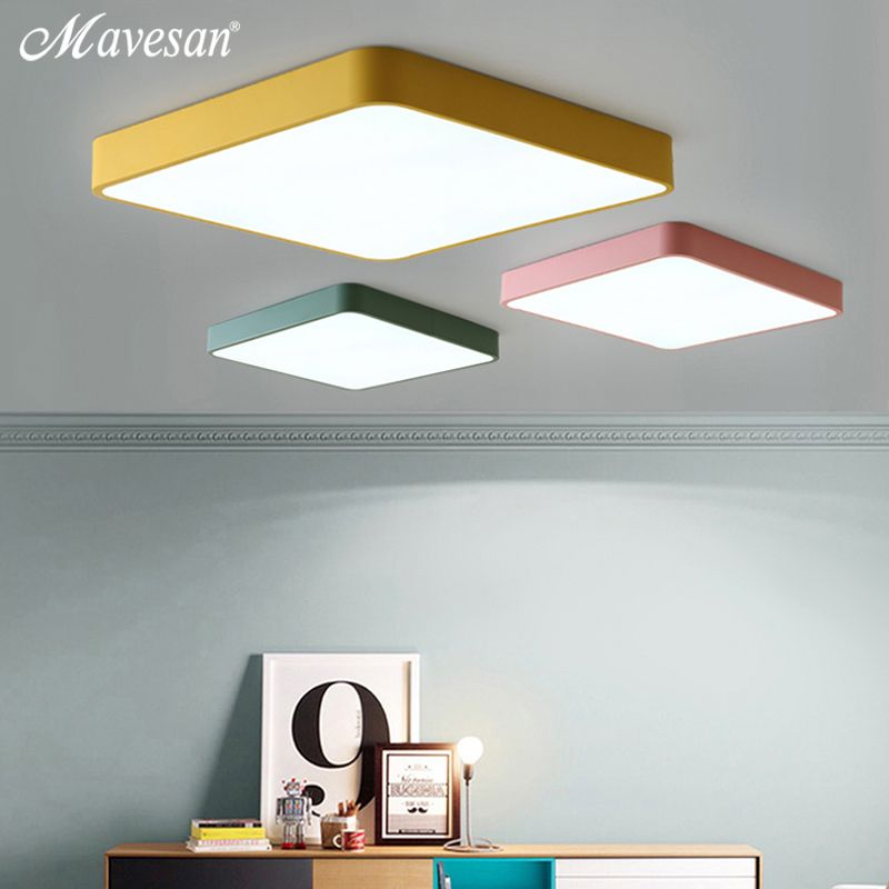 Macaroon square Ceiling Lights color for living room bedroom 5cm height chandelier ceiling lamp for hallway stair case