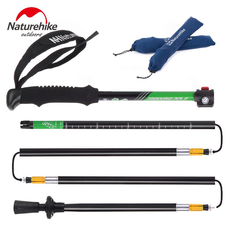 NatureHike Ultra-light EVA Handle 5-Section Adjustable Canes Walking Sticks Trekking Pole Alpenstock For Outdoor 1PC NH15A023-Z