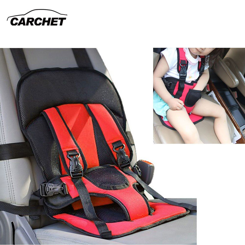 CARCHET Kids Baby Car Safety Cover Strap Adjuster Pad Harness Children Seat Belt Clip Red Baby Child Protector Car Seat Cover