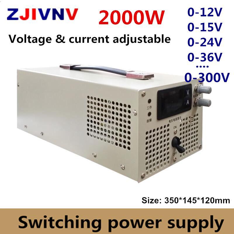 2000 watt Schalt Netzteil 0-12 v 15 v 24 v 27 v 36 v 48 v 60 v 70 v 80 v 90 v 110 v 220 v 300 v Einstellbare Spannung & strom Versorgung