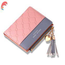 Cuero pequeña cartera mujeres de lujo marca famosa Mini mujer carteras corto cremallera monedero tarjeta de crédito titular