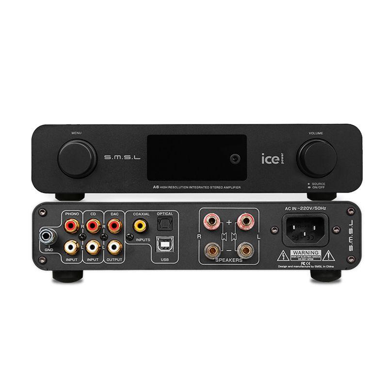 Smsl a6 verstärker audio hallo fi vorverstärker power amplificador phono-vorverstärker dsd usb dac ak4452 xmos usb decoder digital verstärker