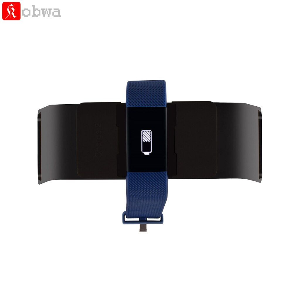 Зарядная док-станция Зарядное устройство для FitBit Charge 2 Зарядка через USB Стенд адаптер док аксессуар Бизнес Весна Дизайн черный Цвет