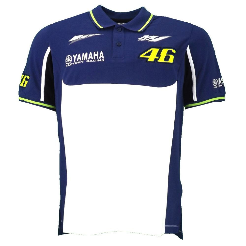 2017 NEW Valentino Rossi VR46 for Yamaha Moto GP 100% Cotton Polo T-Shirt MENS