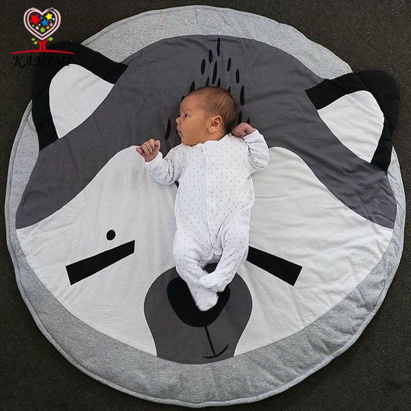Детское одеяло 2017 новый игровой коврик Коала медведь печати KAMIMI новорожденного мягкий коврик хлопок мягкий детские восхождение ковер A816