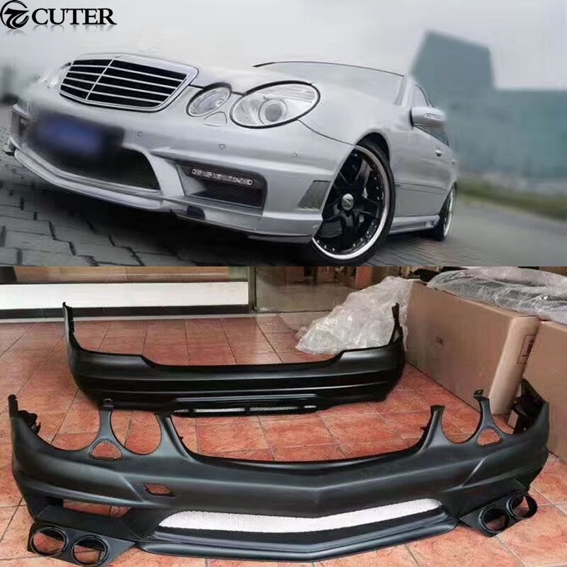 W211 E350 Car body kit FRP Unpainted front bumper rear bumper side skirts for Mercedes Benz W211 E280 WALD body kit 05-10
