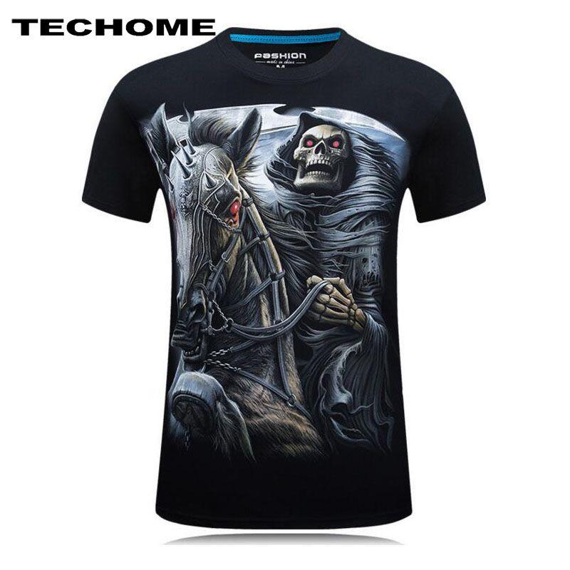 Summer Men's Brand Clothing O-Neck Short Sleeve Animal T-shirt monkey/Wolf 3D Digital Printed T shirt 3D T Shirts Men Homme 6XL