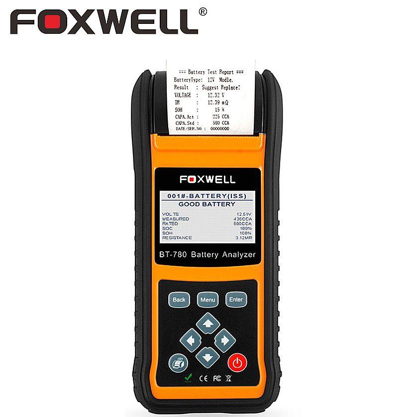 FOXWELL BT780 12V 24V Automotive Battery Tester Car AGM GEL EBP Batteries Analyzer Built-in Printer Starting Charging System