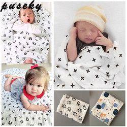 Puseky niño bebé recién nacido niños infantiles swaddle muselina suave manta abrigo Bañeras toalla swaddle manta toalla 120*120 cm