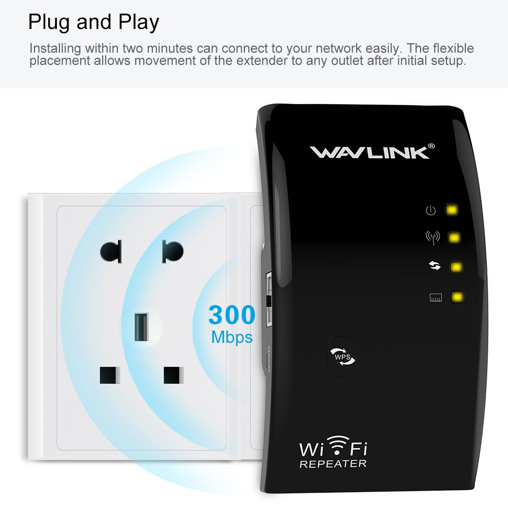 Répéteur WIFI sans fil amplificateur de Signal wifi haute puissance amplificateur de Signal WIFI amplificateur AP/répéteur 802.11N/B/G WPS Wavlink