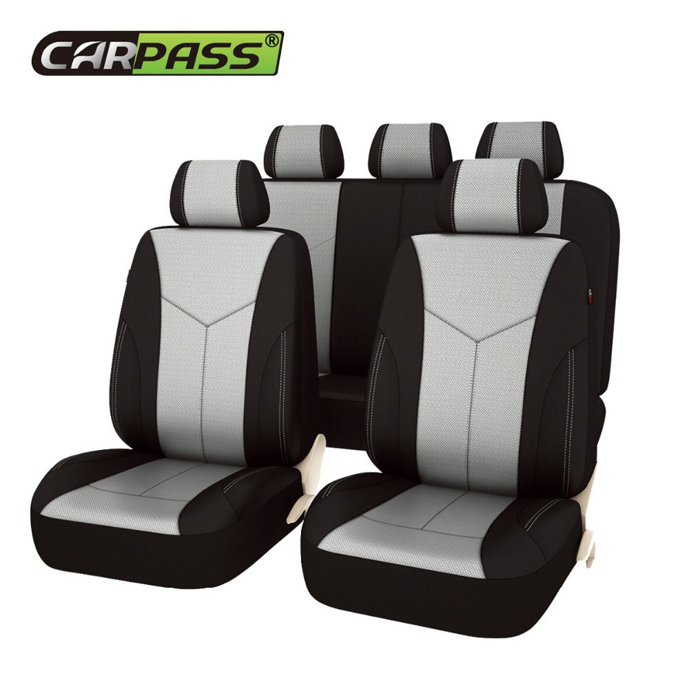 Car-pass Car Seat Covers eye bird mesh fabric Universal Fit Most Cars Covers with Tire Track Detail Styling Car Seat Protector