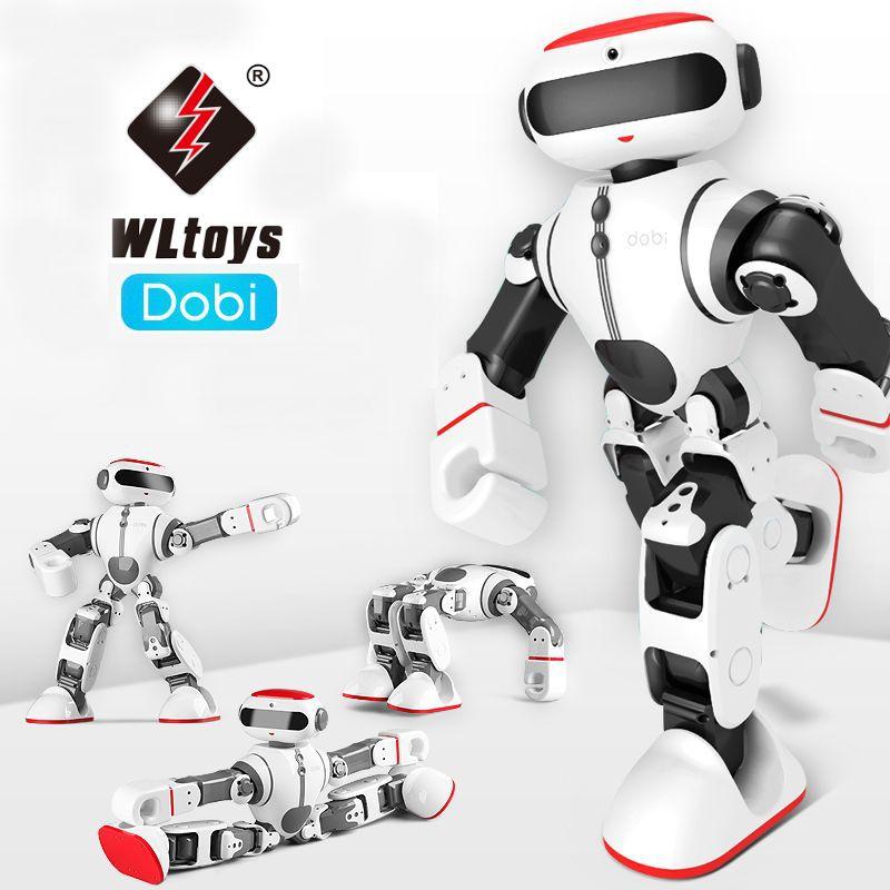 Wltoys F8 Dobi Intelligent Humanoid Voice Control Multifunction App Control RC DIY Robot Toys Children Kid Gift VS JJRC R1 R2 R3