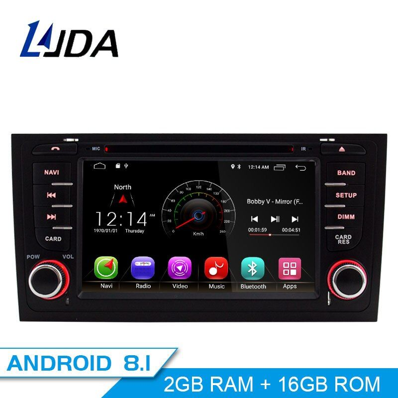LJDA 2 Din Android 8.1 Auto DVD player Für AUDI A6 S6 RS6 GPS Navigation Multimedia WIFI Audio Stereo Radio Steuergerät 4G + 32G 8 core