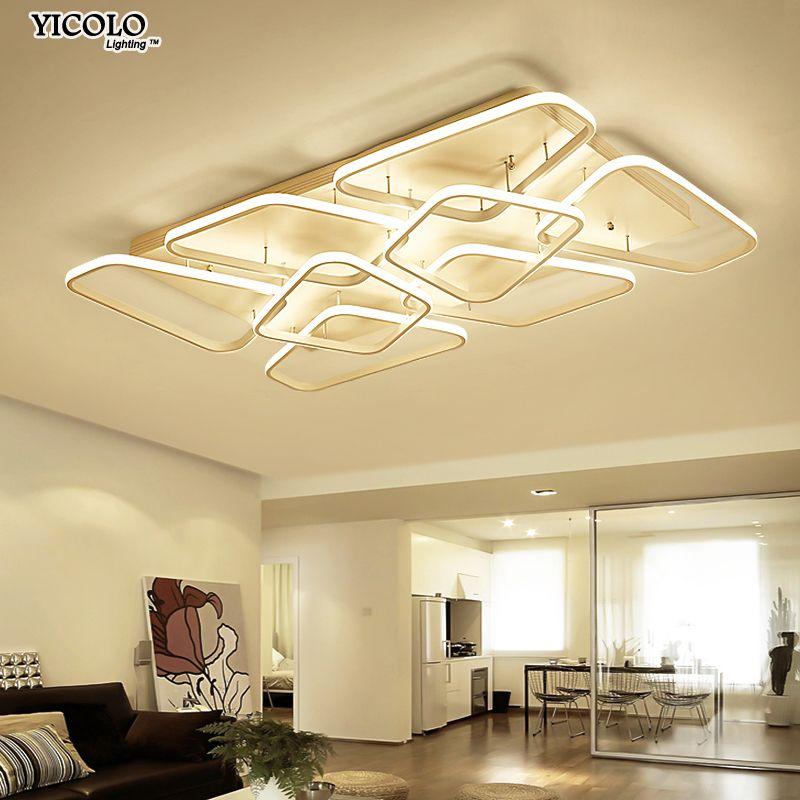Moderne Decke lichter lampe für wohnzimmer schlafzimmer Acryl innen Leuchte mit fernbedienung deckenleuchte Lampara
