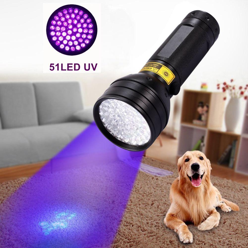 Alonefire 395-400NM ultraviolet lampe de poche UV lampe de poche Ultra Violet 8 w 51 LED lampe de Poche Torche Lampe Lumière AA Batterie Alimenté