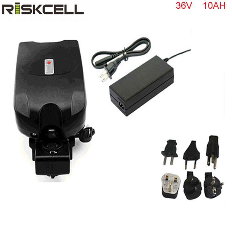 Electric bicycle battery 36V 10Ah With 42v 2a charger 36v 10ah Li-ion battery 36v 10a frog E-bike batteries fit 36V bafang motor