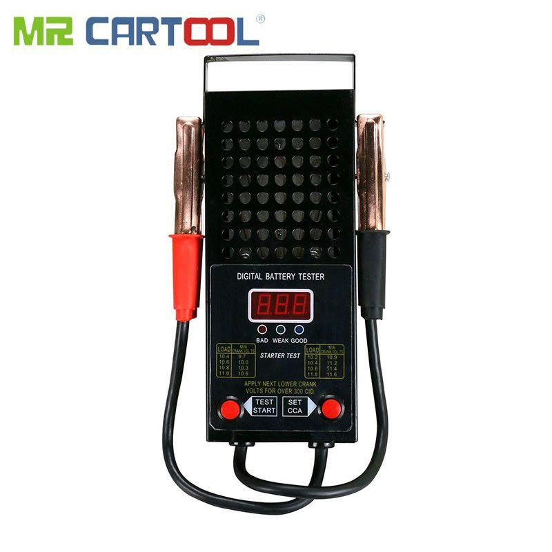 BT007T Auto Batterie Tester Digitale Analyzer Last 12 V Auto Licht Lkw Motor Auto Motor Volumen 125Amp Tests Alligator Clip CCA