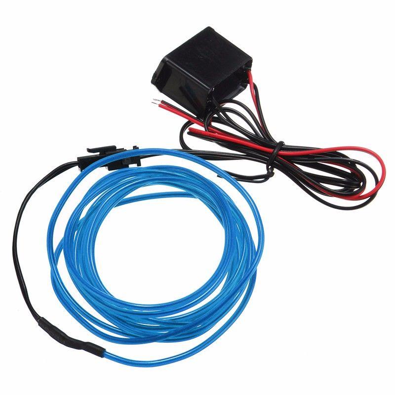 Beste Förderung 2 Mt 10 Farben Flexible El Draht Neon Glow Licht Mit 12 V Controller 10 Farben