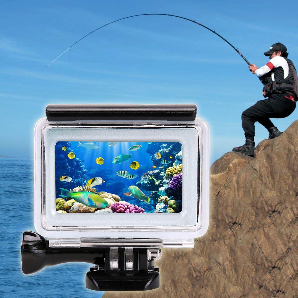 ALLOET pour Yi 4K accessoires plongée housse de caméra tactile pour Yi 4K étui 35m 2 II Action Cam couverture pour Xiaomi Yi 4K étui étanche
