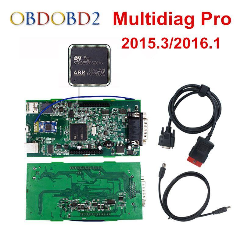 <font><b>Green</b></font> PCB Multidiag Pro+ Bluetooth 2015.R3/2016.R0 Free Keygen 4G TF Card For TCS 2016.0 CAR TRUCK Diagnostic Tool Free Ship