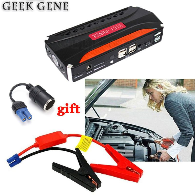 Car Jump Starter 12V Emergency Starting Device 600A Power Bank Charger For Car Battery Booster Buster Diesel Petrol 4USB Lighter