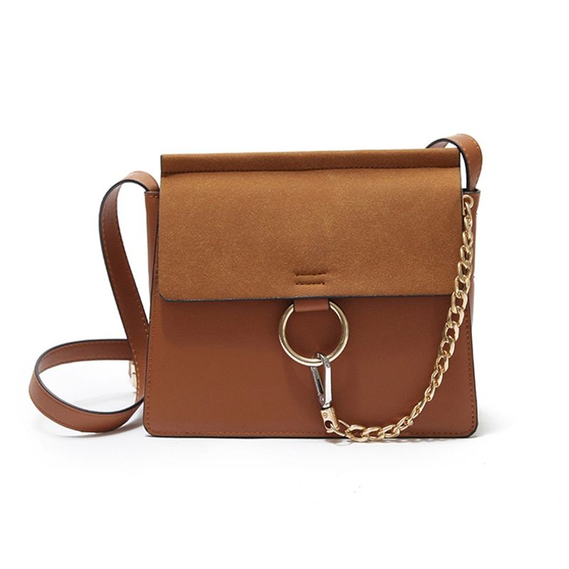 2018 new Fashion retro solid color one-shoulder diagonal small square bag multifunction High Quality style chain shoulder bag