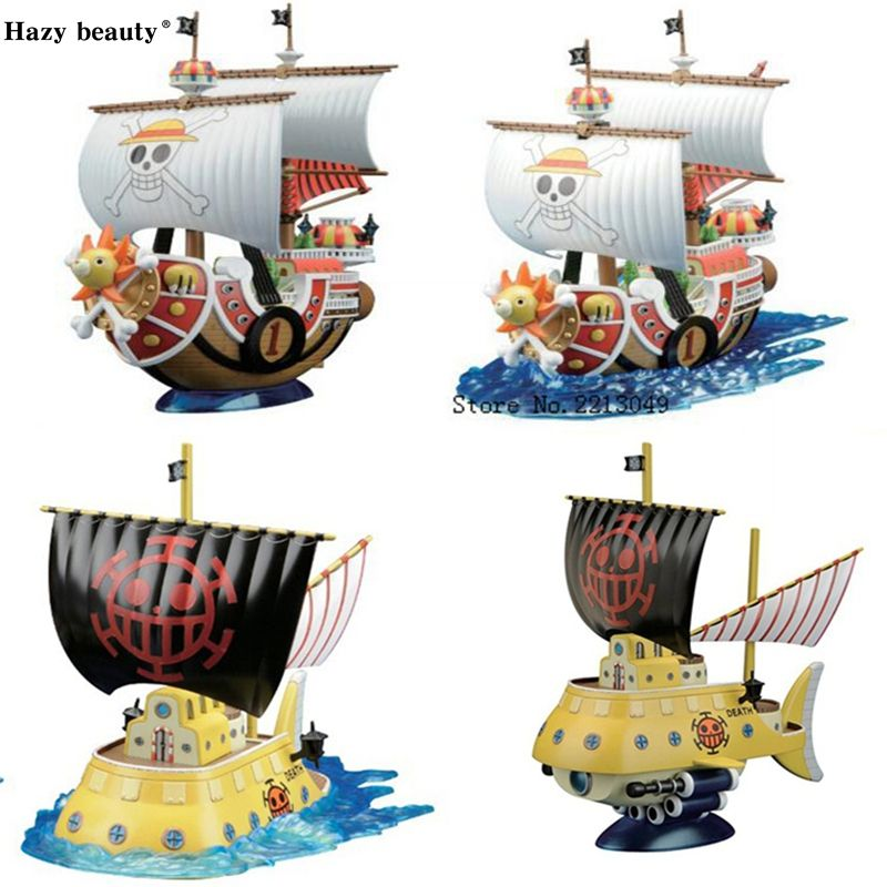 Hazy beauty Original Thousand Sunny/ <font><b>Grand</b></font> Line Going Merry Pirate Ship One Piece Anime brinquedos Collection Figures toys