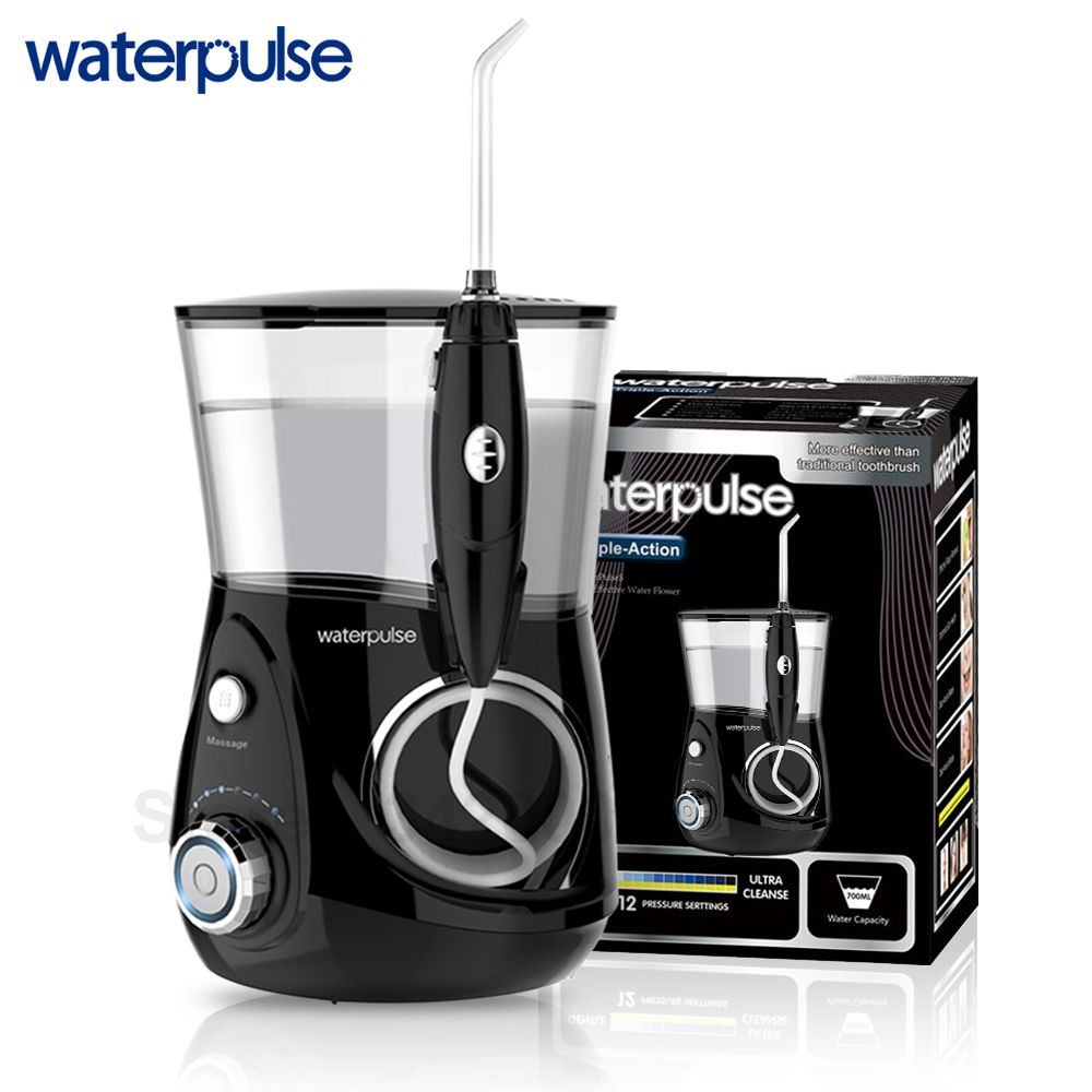 Waterpulse V660H Dental Water Flosser Oral Irrigator Dental Care Dental Flosser 5 Nozzles With Clean Massage Function Flossers