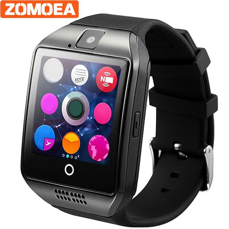 Zomoea Смарт часы для телефона Android с Сим слот для карт нажмите сообщение Bluetooth Подключение телефона Android музыки лучше 500ma