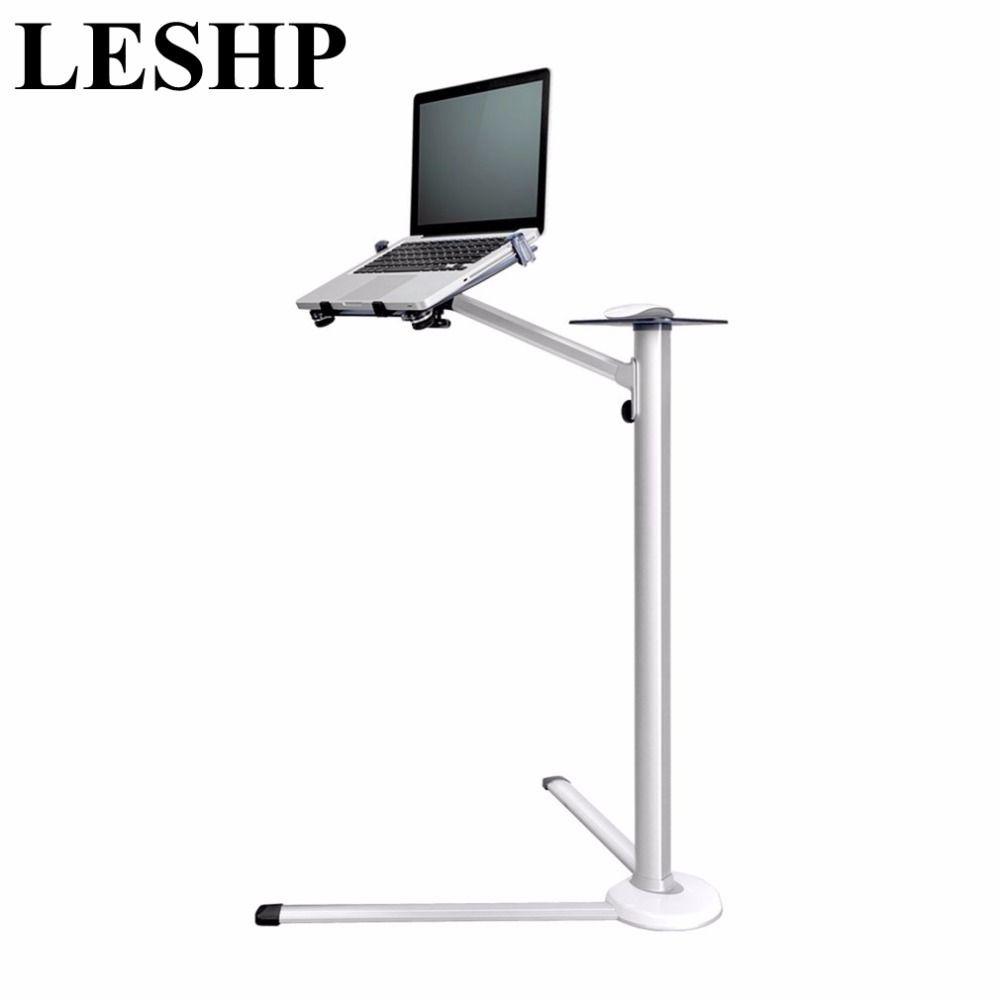 LESHP 360 Grad-umdrehung Höhenverstellbarer Laptop Bodenständer Mit Mausablage Aluminiumlegierung Ergonomie Laptop Schreibtisch Halter