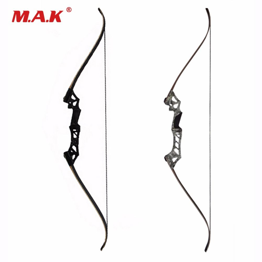 60 Inches Recurve Bow Hybrid Bow 30-70 Lbs in Black/Camo for Right Hand User Archery Bow Shooting Hunting