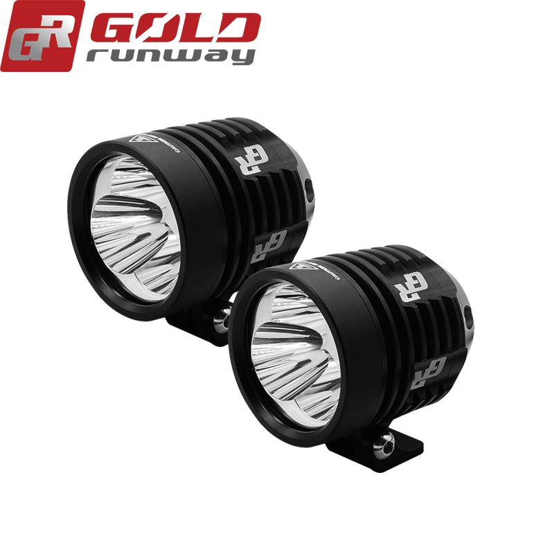 2pcs GOLDRUNWAY 30IX Motorcycle LED Headlight Fog Light U3 30W 3000LM Universal Motorcycle Professional Head light Spot light