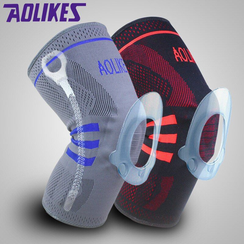 1pcs Basketball Knee Brace Compression knee Support Sleeve <font><b>protection</b></font> of Injury Recovery Volleyball Fitness sport safety
