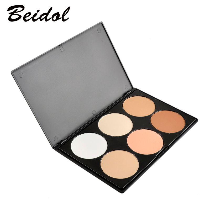 Professionnel 6 Couleurs Blush Coupe Ensemble Maquillage Contour Blush Poudre Pour Le Visage Palette Fondation Make-up Palette Comestics